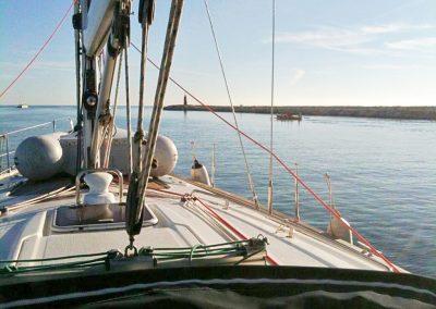 Cubierta navegando